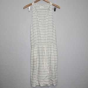 Lou & Grey Linen Blend Striped Summer Dress sz S